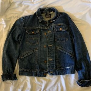 VINTAGE Maverick Denim Jacket W/ Embroidered Back